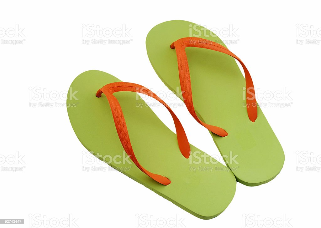Green Sandals royalty-free stock photo