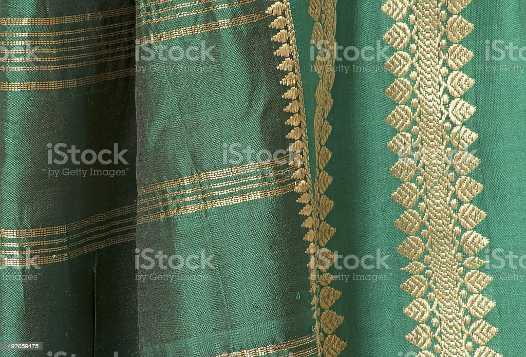 Green Sari stock photo