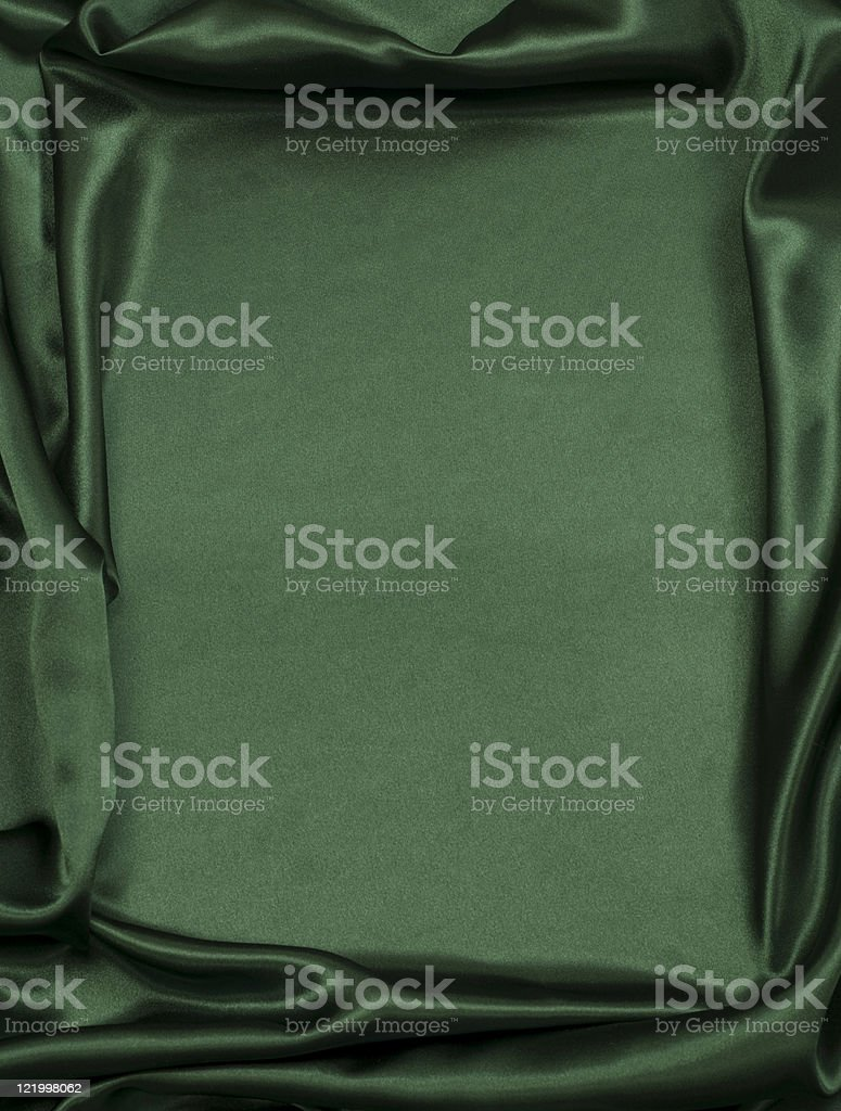 Green Satin Background (XXL) royalty-free stock photo