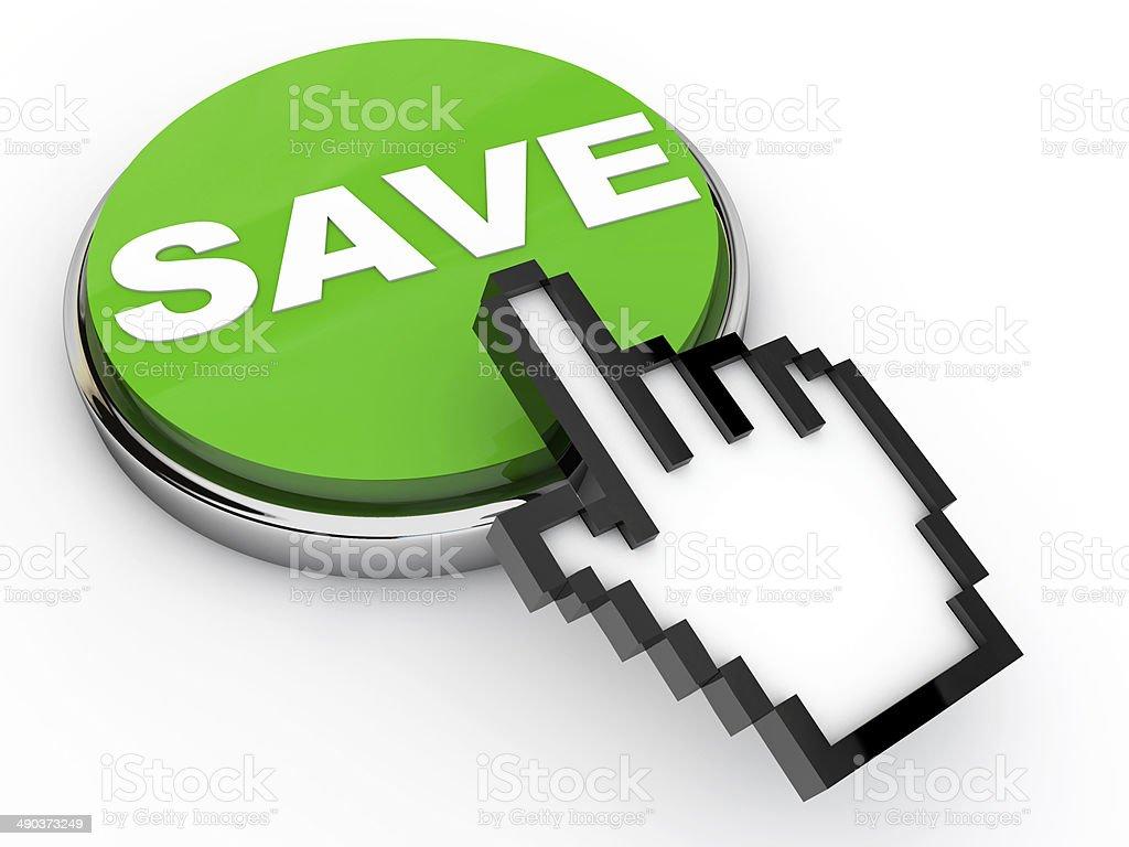 Green Save Button stock photo
