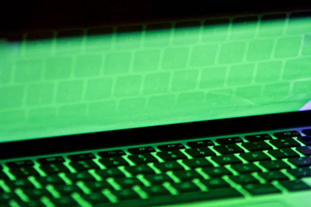 Green-Screen-abstrakten Computer-Tastatur – Foto
