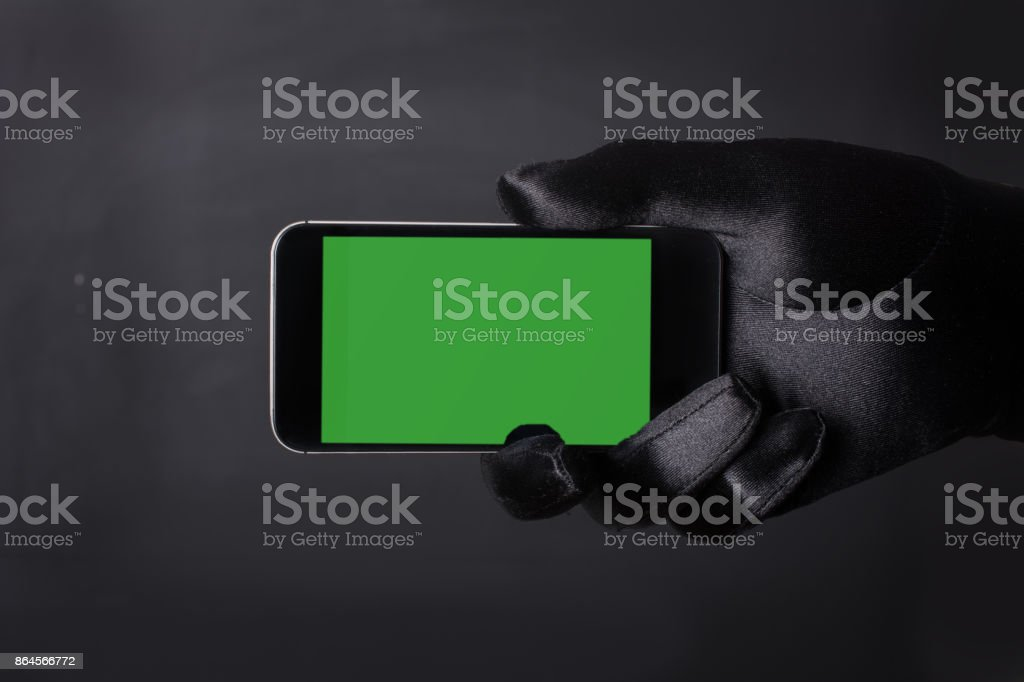 Green Screen Handheld Smartphone stock photo