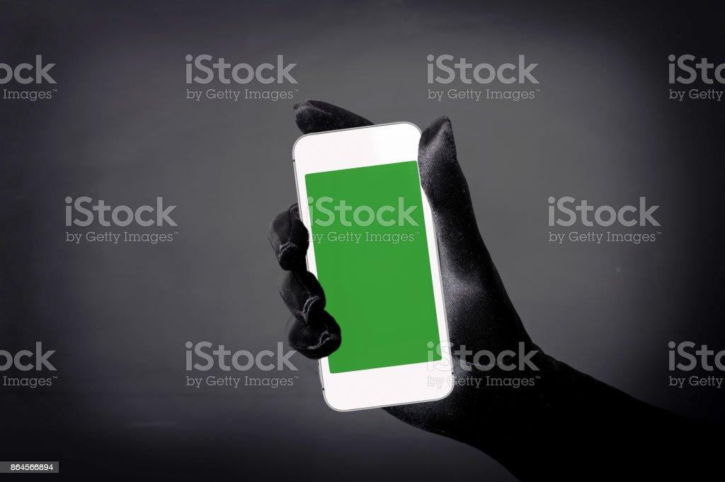 Green Screen Handheld Smartphone stock photo