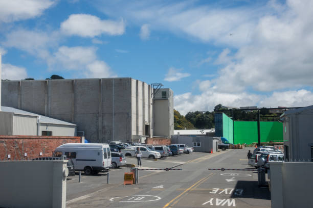 green-screen in wellington - auto trennwand stock-fotos und bilder