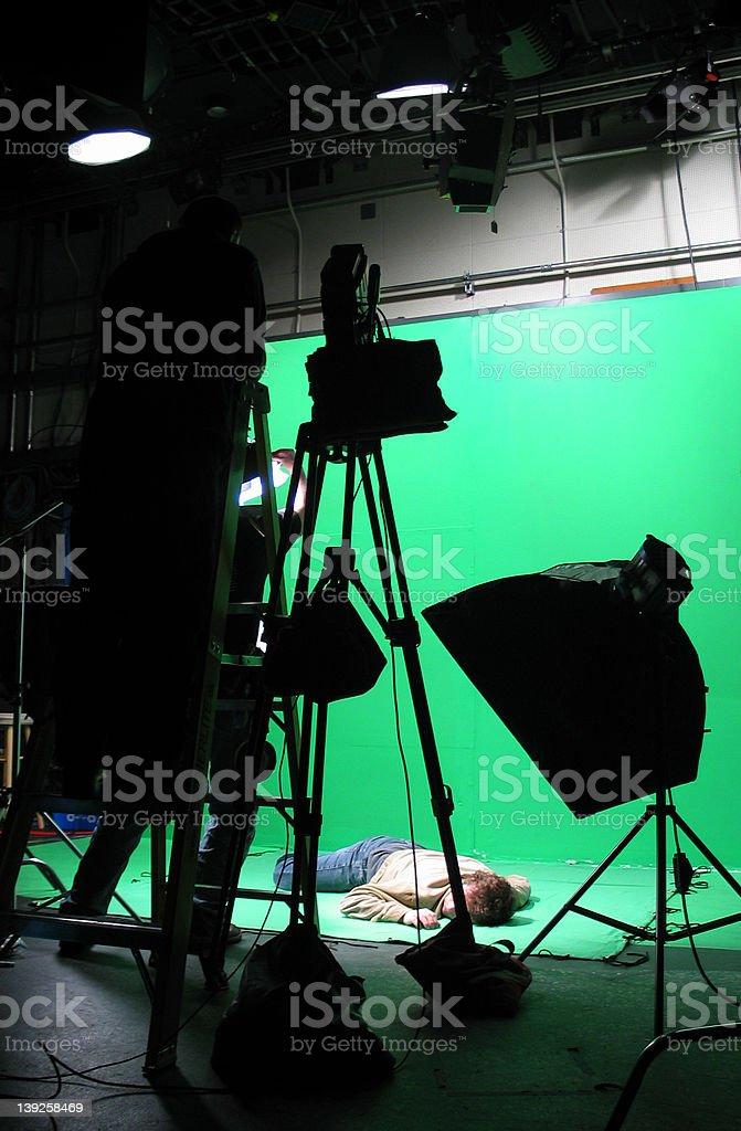 Green Screen Setup stock photo