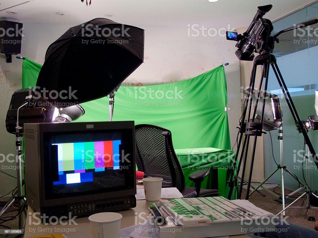 green screen studio stock photo