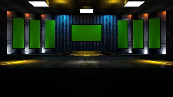 Green screen tv virtual studio