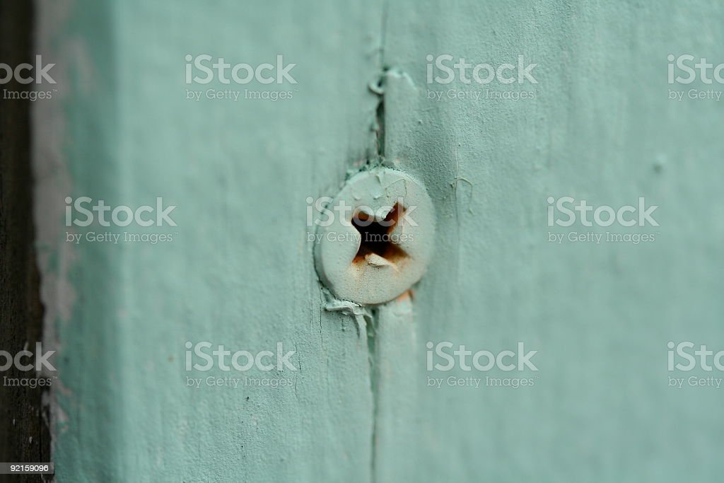 Green Screw stock photo