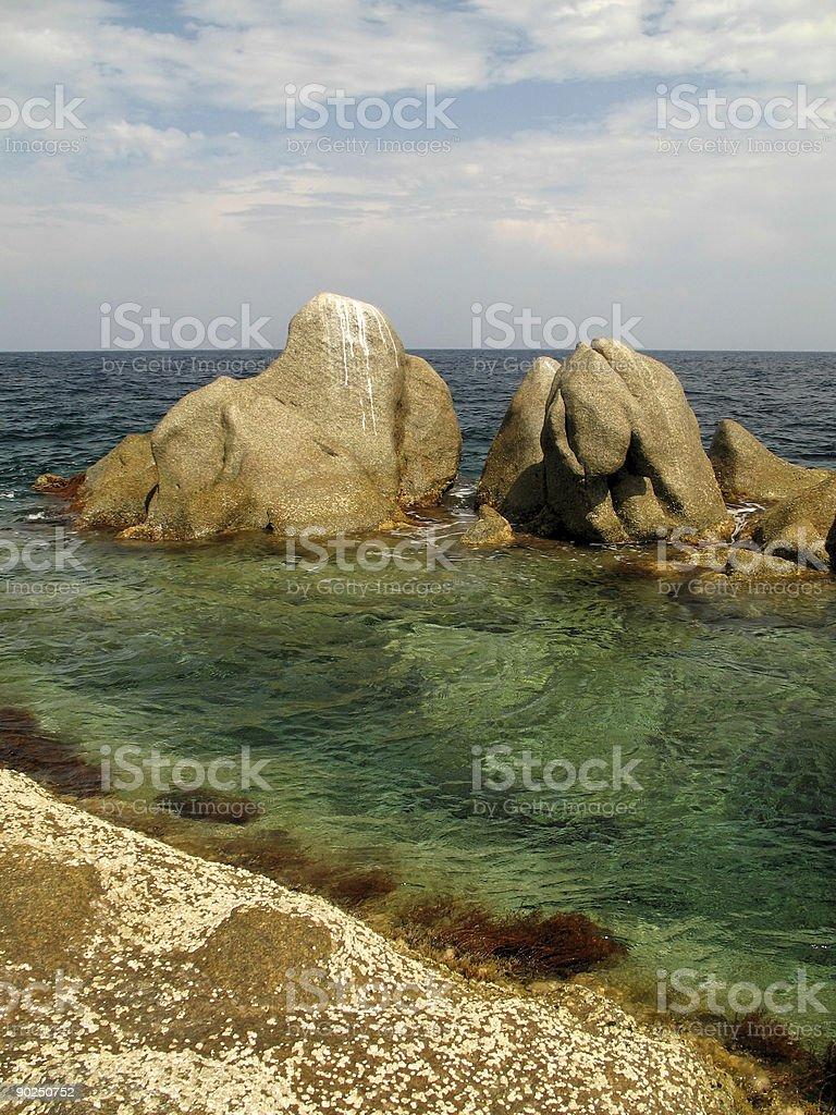 green sea royalty-free stock photo