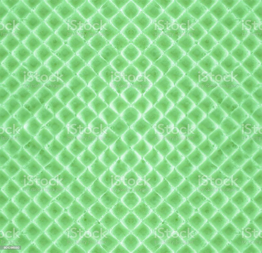 Green seamless backdrop - texture  waffle stock photo