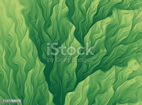 istock Green Seaweed Abstract Background Fractal Art Glitch Effect Leaf Pattern Close Up 1147785579