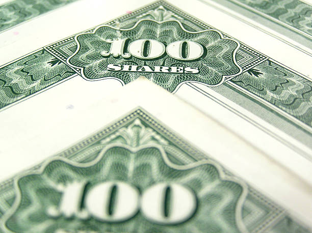 Green shares stock certificates  debenture stock pictures, royalty-free photos & images