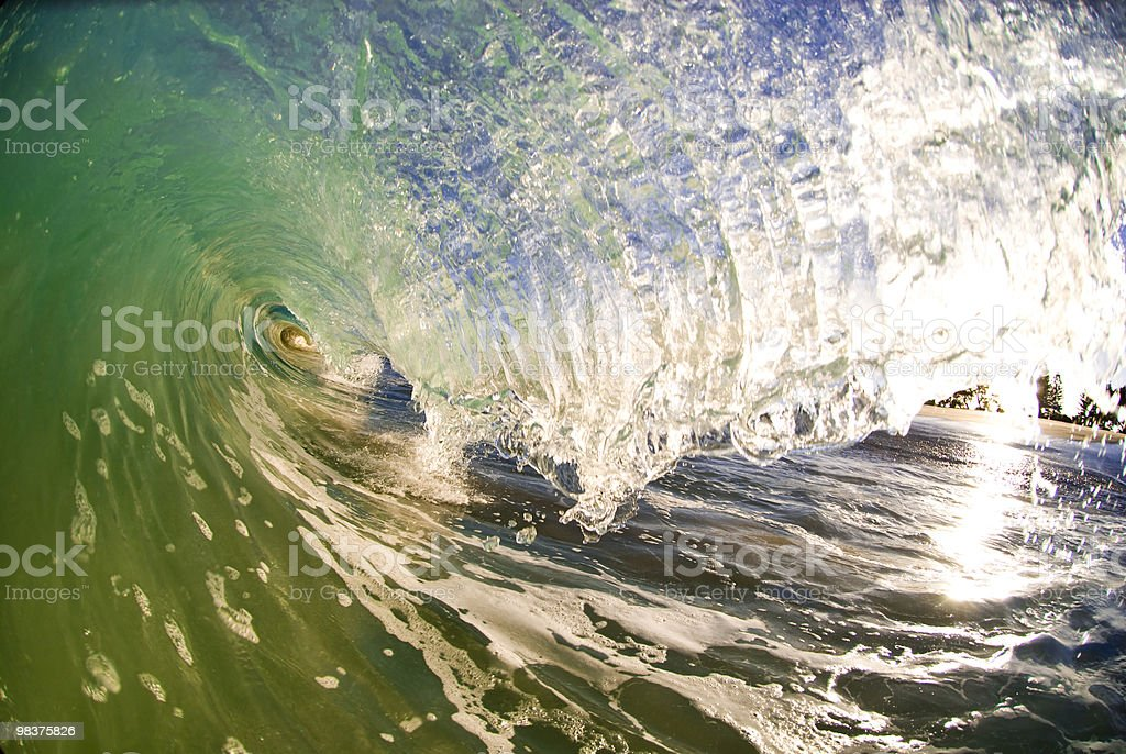 Verde Shorebreak foto stock royalty-free