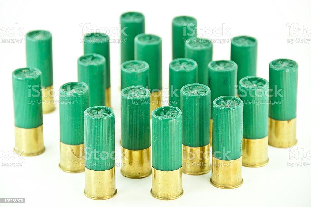 Green  Shotgun Shells stock photo