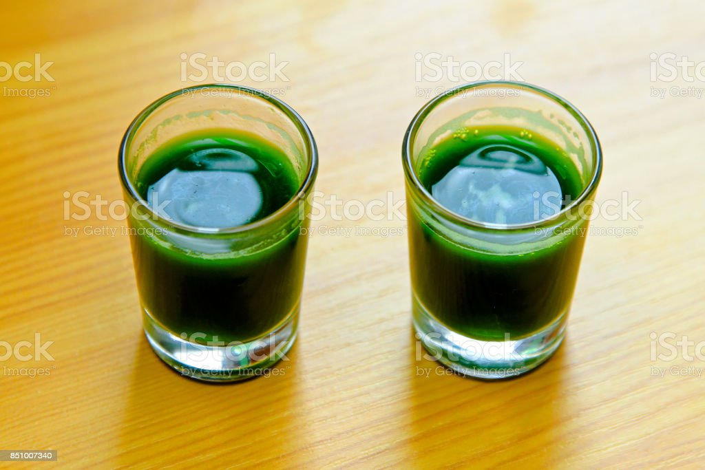 Green shots stock photo