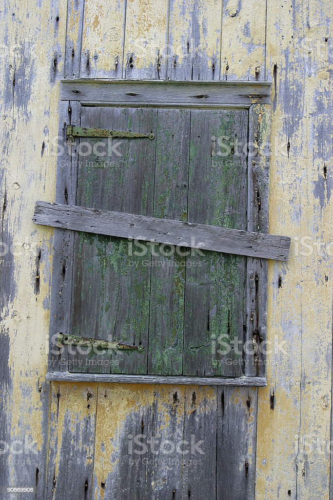Green Shutter stock photo