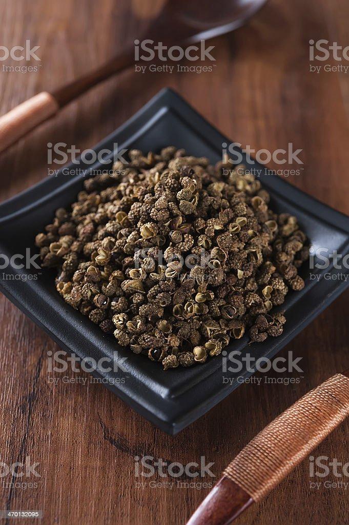 Green Sichuan pepper stock photo