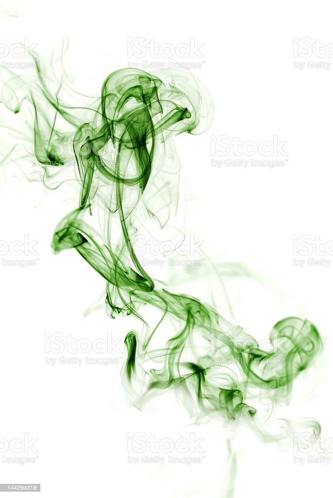 Green Silky smoke royalty-free stock photo