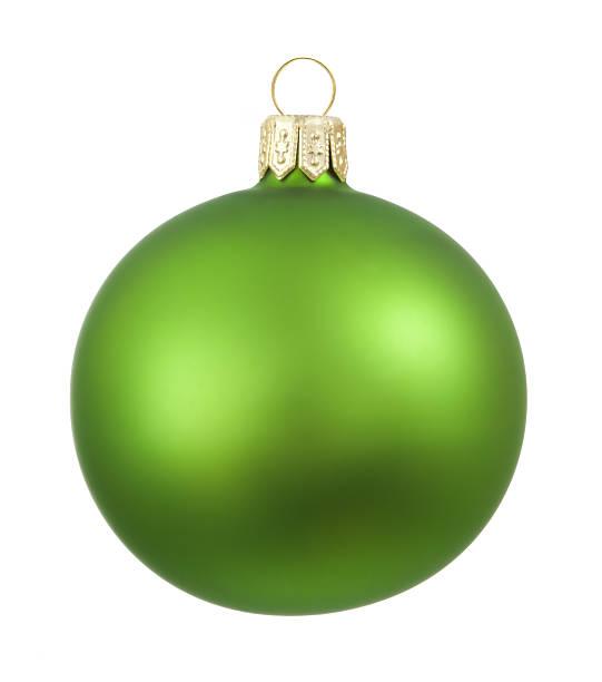 Green Simple Cristmas Ornament stock photo