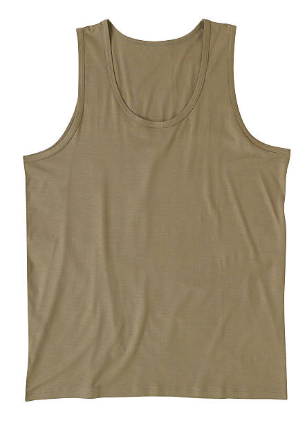 green singlet, t-shirt with clipping path stock photo