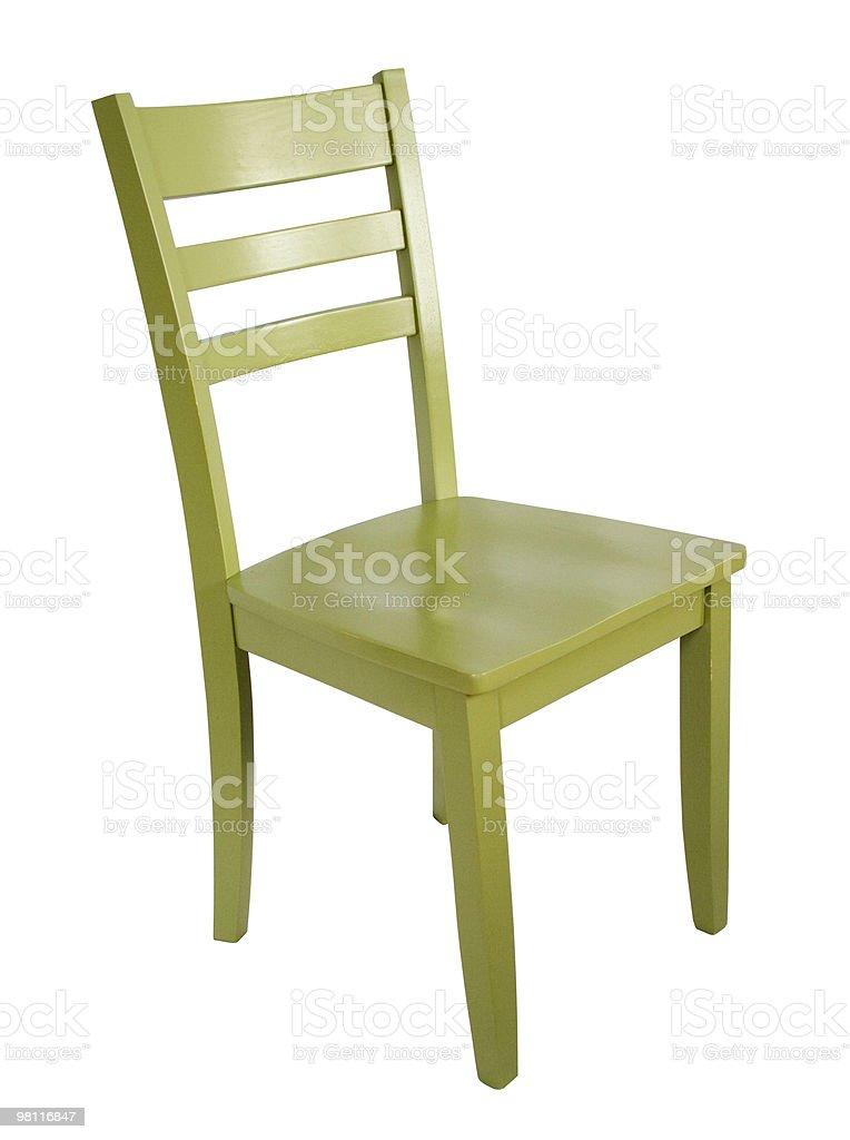 Seduta sedia verde foto stock royalty-free