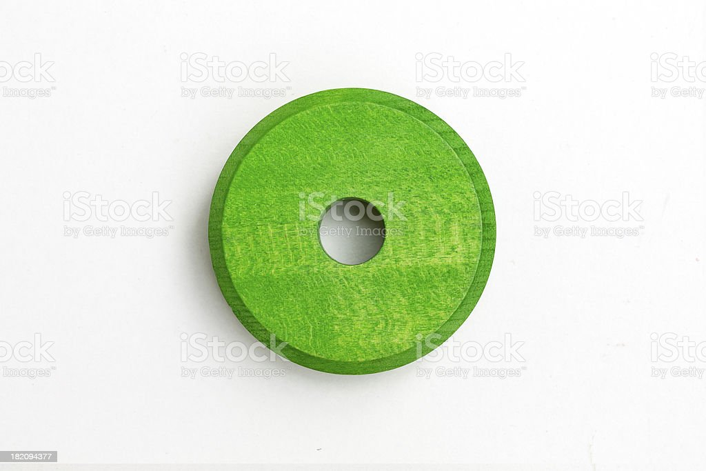 Green slice of wood royalty-free stock photo