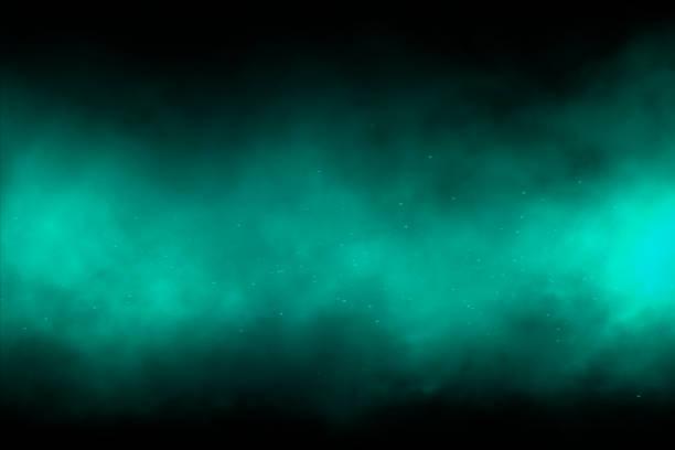 grüner rauch hintergrund - cosmic abstract background with stock-fotos und bilder