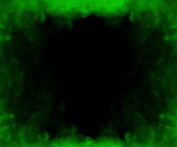 green smoke frame stock photo