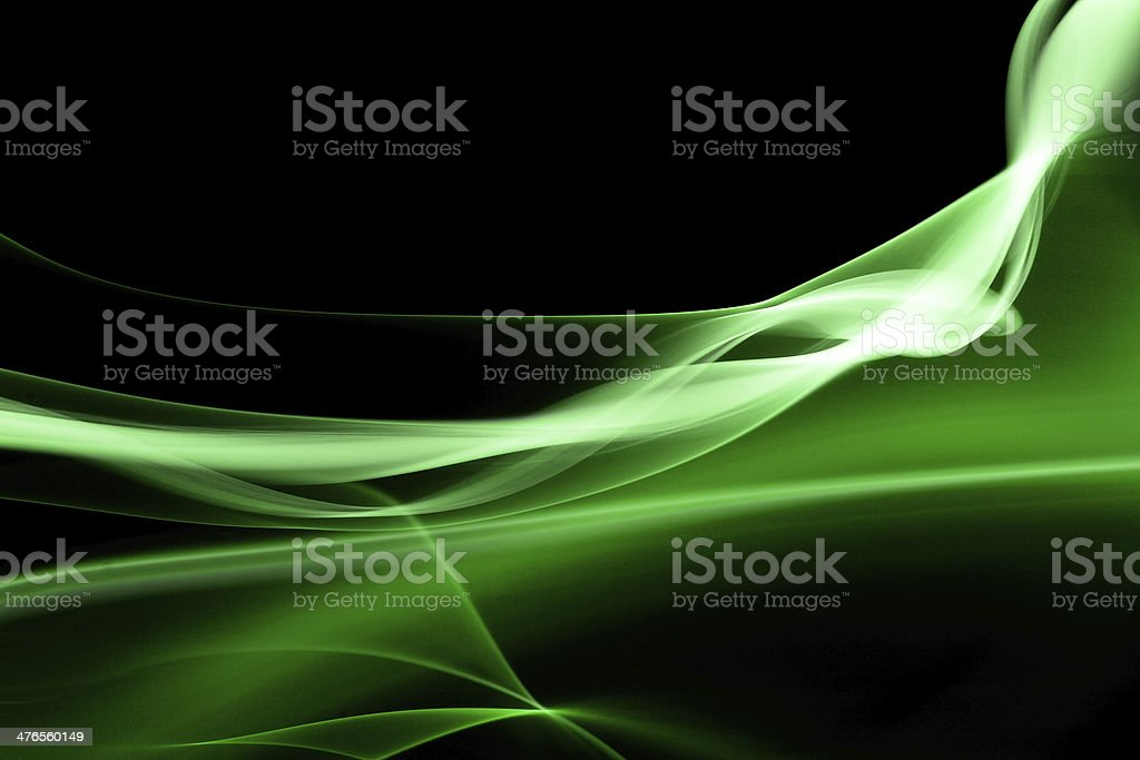 Green smoke royalty-free stock photo