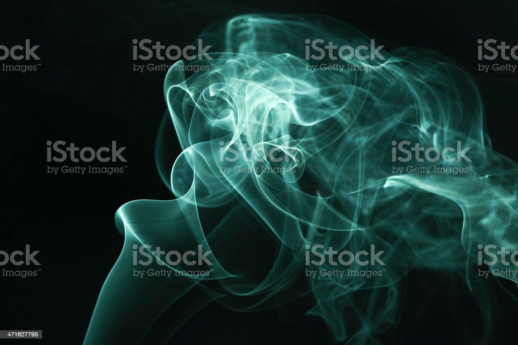 Green smoke rises up royalty-free stock photo