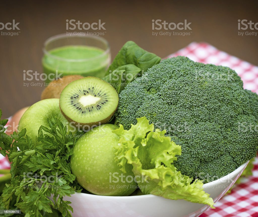Green smoothie ingredients royalty-free stock photo