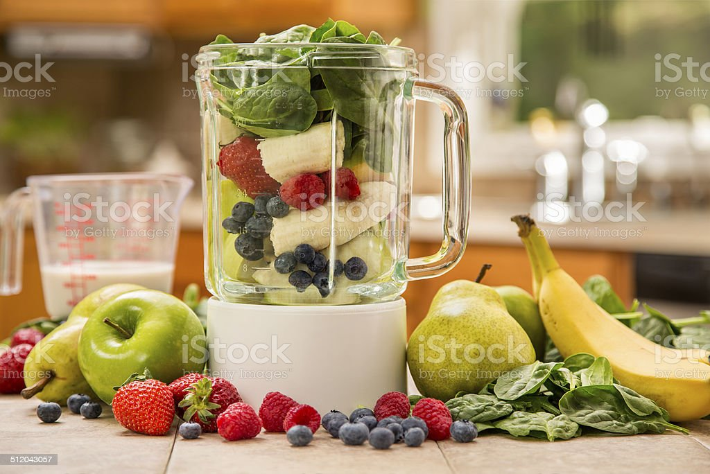 Green Smoothie Ingredients stock photo