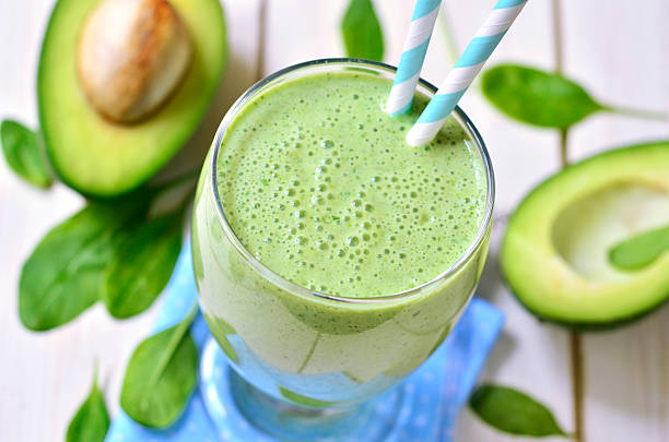 Green smoothie. stock photo