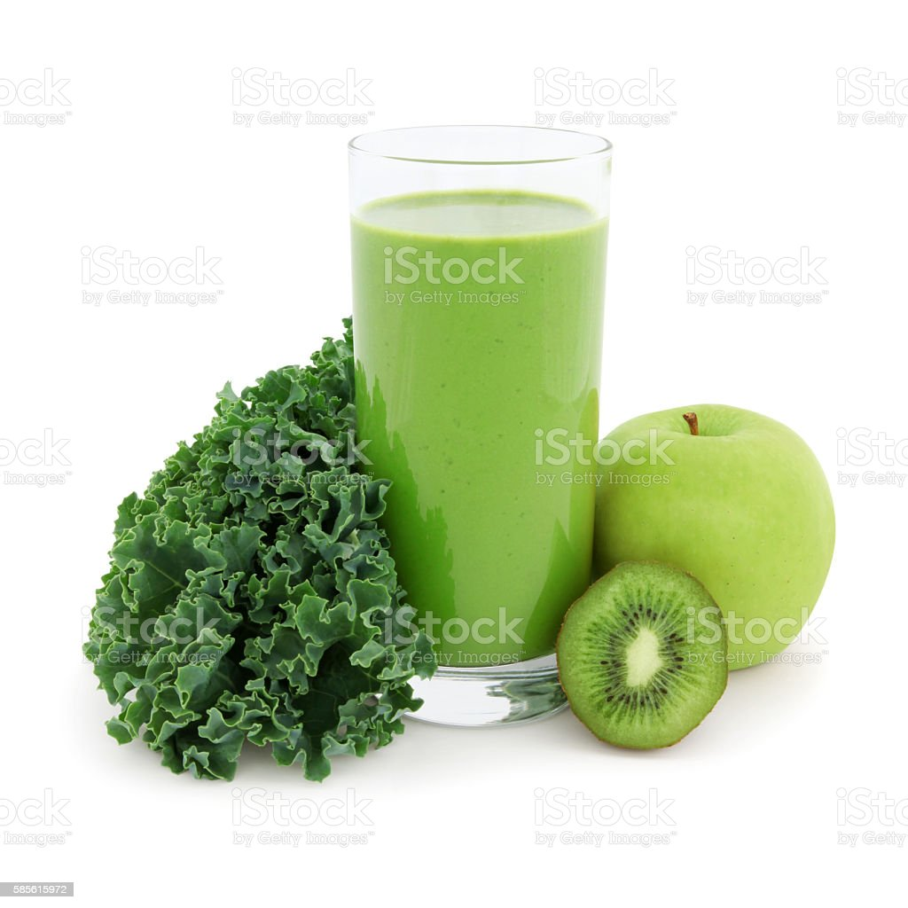 Green Smoothie (with path) stock photo
