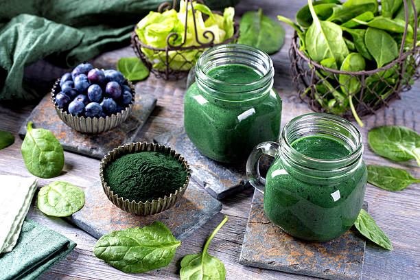 smoothie vert  - antioxydant photos et images de collection