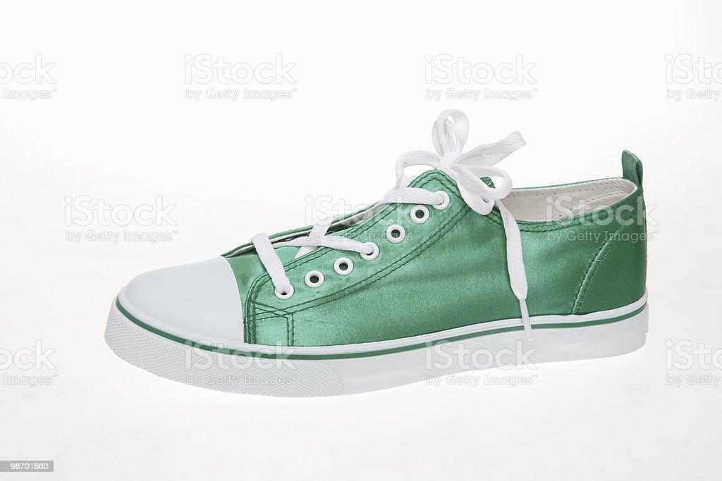 green sneaker royalty-free stock photo