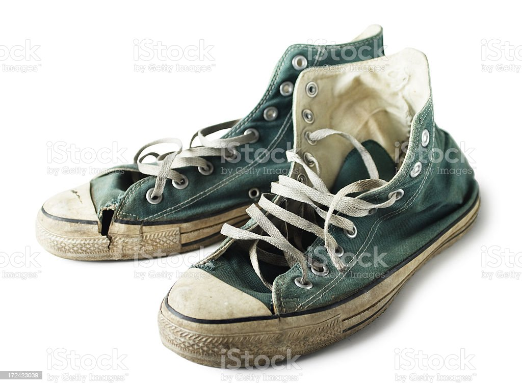Green Sneakers royalty-free stock photo