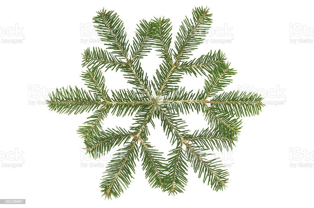 Green snowflake royalty-free stock photo