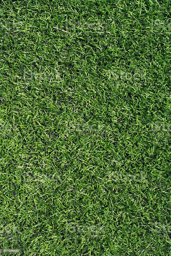 Green soccer field turf texture closeup stock photo