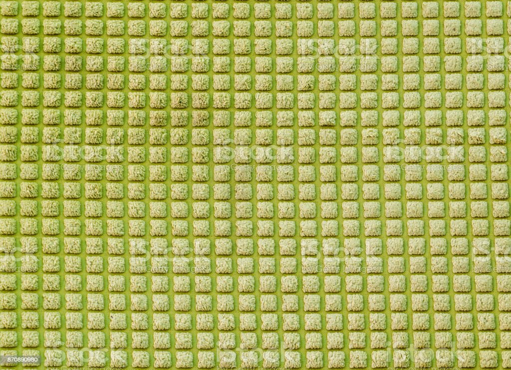 Green Soft fabric microfiber surface texture stock photo