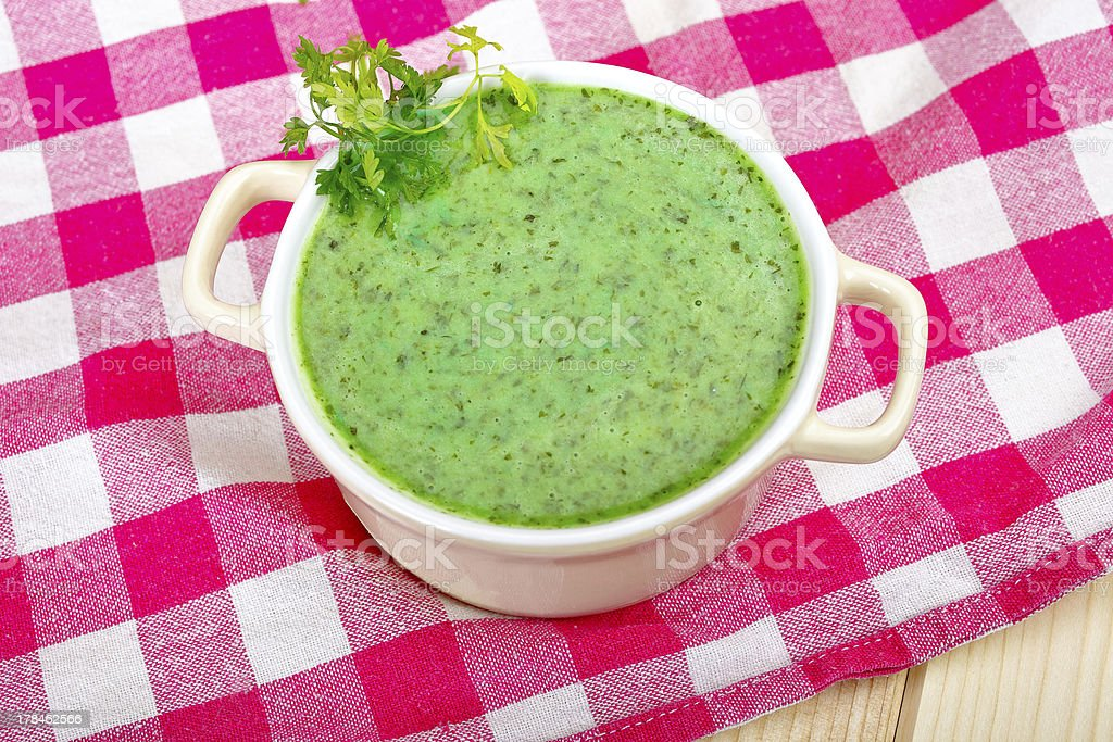 Green soup royalty-free stock photo