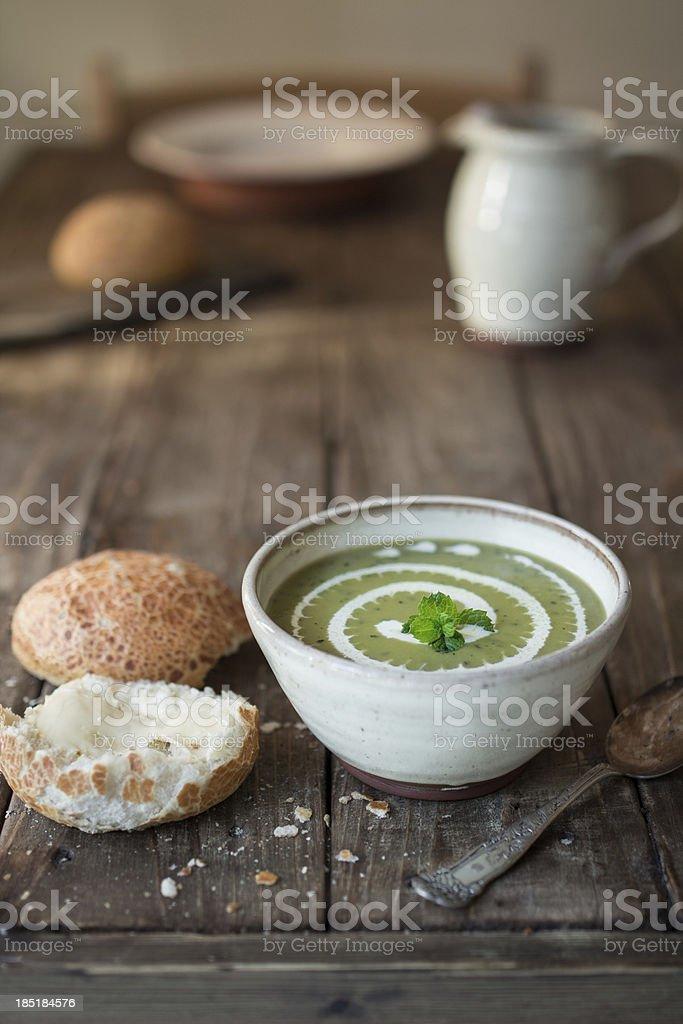 Green soup stock photo