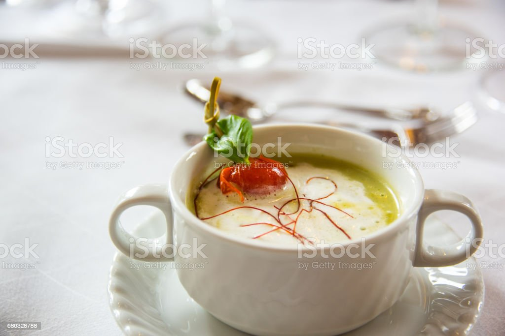 Green soup stock photo