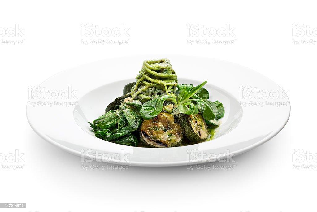 Green Spaghetti stock photo