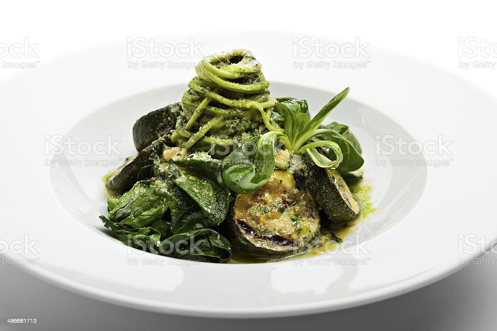 Green Spaghetti royalty-free stock photo