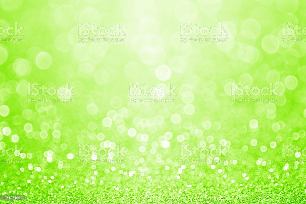 Green Sparkly Glitter Background stock photo