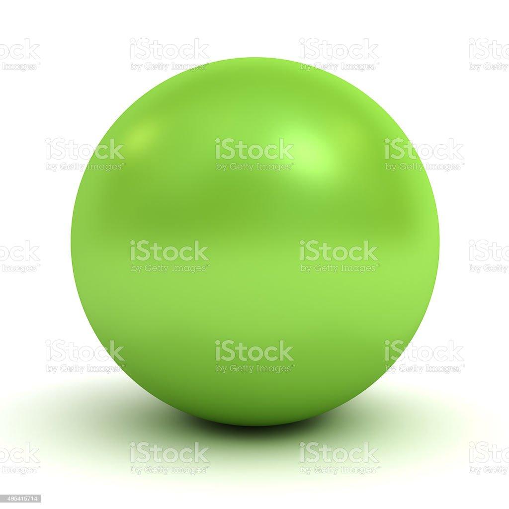 Green sphere stock photo
