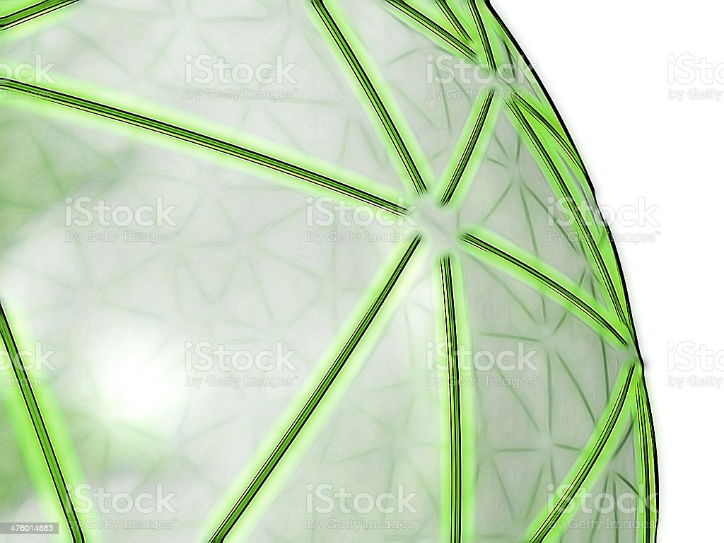 green spheric network on transparent surface stock photo