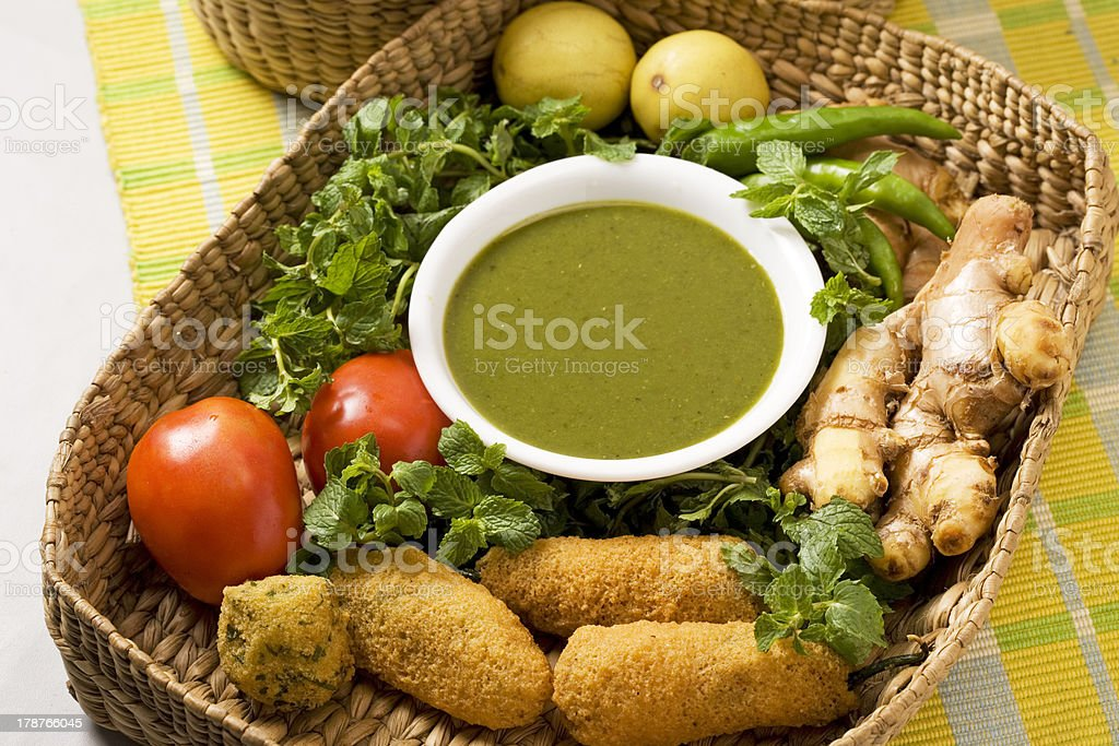Green Spicy sauce stock photo