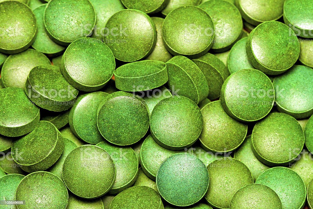 Green Spirulina royalty-free stock photo